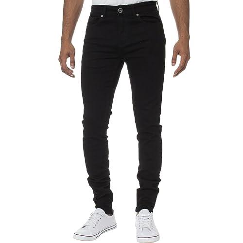 dc88b42978ba9 Kruze Mens Designer Casual Denim Stretch Super Skinny Jeans Pants