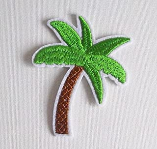 2 Iron-on Embroidered Patch Palm Coconut 57x73mm Tree R019