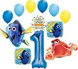 Finding Dory Party Supplies 1st Birthday Balloon Bouquet Decorations