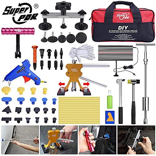 Super PDR Kit Usato per Riparare le Ammaccature Auto, martello scorrevole con barra a T, kit di estrazione per ammaccature a martello con linguetta di estrazione