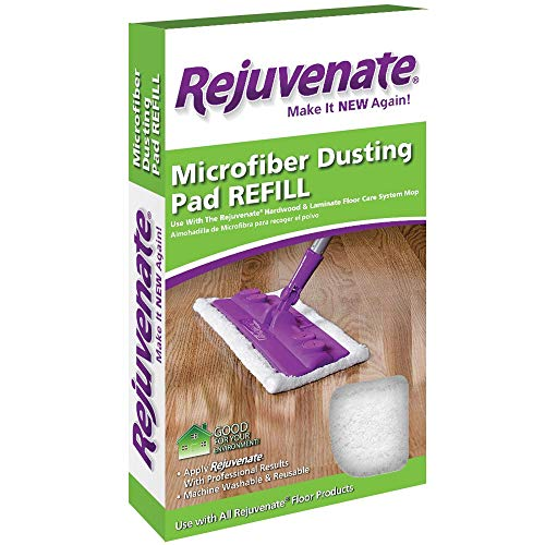 Rejuvenate Microfiber Dusting Pad Refill Fits Hardwood & Laminate Floor Care System Mop – Use with All Rejuvenate Floor Care Products