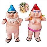 Unhöfliche Gartenzwerge, Gartenzwerge lustig, Strand nackte Männer und nackte Frauen dekorieren Rasen Garten Hof Veranda Interieur (C)