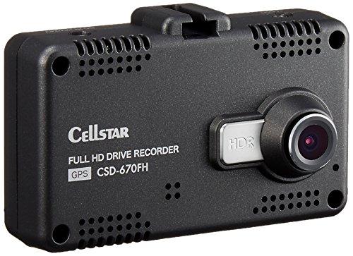 セルスタードライブレコーダー CSD-670FH 日本製3年保証 駐車監視 GPS 2.4インチタッチパネル microSDメン...
