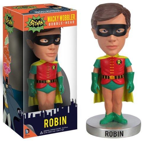Robin 16.5cm Wackelkopf Figur: 1966 Klassisch Batman Wacky Wobblers Serie