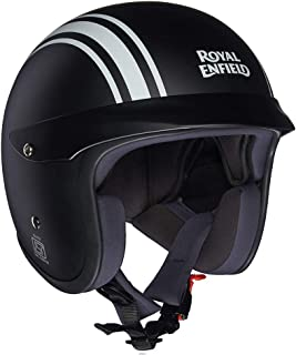 Royal Enfield Matt Black Open Face with Peak Helmet Size (M)58 CM (RRGHEI000078)