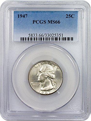 1947 P Washington Quarter Quarter MS66 PCGS