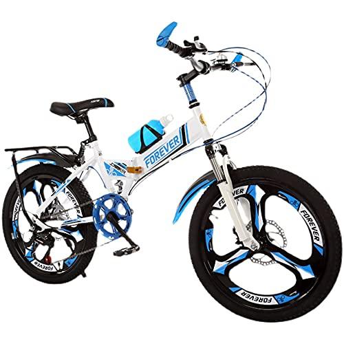 Axdwfd Infantiles Bicicletas Bicicleta para Niños 18,20 Pulgadas, Bicicleta Plegable, Marco De Acero De Alto Carbono, Adecuado para Montar Al Aire Libre De 7 A 14 Años De Edad(Size:18in,Color:A)