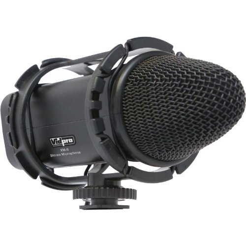 of vidpro wireless mics Vidpro XM-S Stereo Condenser Microphone with Fuzzy Windbuster