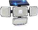morpilot Luz Solar Exterior, 214 LED 1500 lM, Detector de movimiento,...