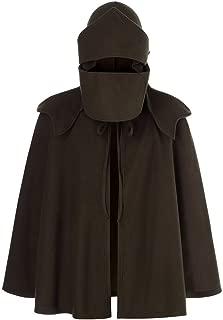 XQXCL Fashion Novelty Mask for Men Pure Color Caps Irregular Patchwork Loose Bat Sleeves Hooded Retro Cape Coat Cloak