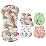 iZiv Muselina Baberos - Paquete de 4 Diseños Muselina Paños Para Bebés Burpy...
