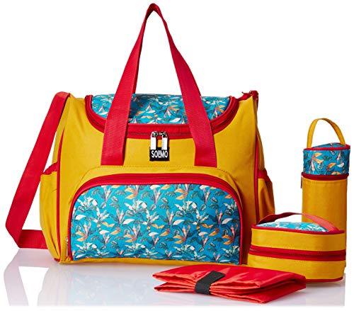 Amazon Brand - Solimo Frolic Diaper Bag, Mustard
