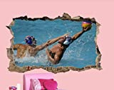 Pegatinas de pared Pegatinas de pared de agua de la piscina Pegatinas 3D cartel de arte decoración de la habitación calcomanía mural