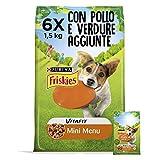 Purina Friskies Crocchette Cane Vitafit Mini Menu fino a 10 kg con Pollo e Verdure Aggiunt...