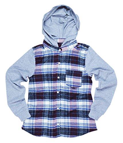 Blue Effect   Kapuzen-Bluse mit stylischem Karo-Muster für Mädchen Größe 158/164