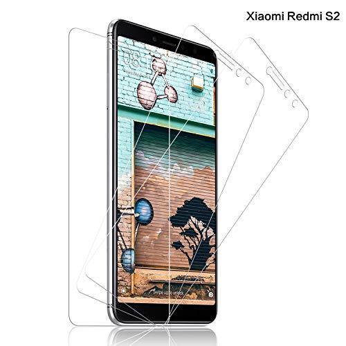 SNUNGPHIR® Cristal Templado Xiaomi Redmi S2, [3-Pack] Protector Pantalla Xiaomi Redmi S2 Cristal Templado [2.5d Borde Redondo] [9H Dureza] [Alta Definición] [Anti-Arañazos] [Anti-Huella Digital]