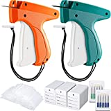 1112 Pieces Clothes Garment Tag Attacher Price Tag Gun Applicator Machine 2 Inch Standard Plastic Fastener Barb Clothing Paper Size Name Tag Steel Needle for Boutique Store (Dark Green, Orange)