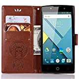 SCIMIN Alcatel OneTouch Flash 2 Leather Case, Alcatel