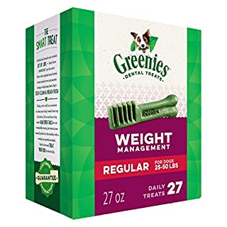 GREENIES Weight Management Regular Natural Dog Dental Care Chews Weight Control Dog Treats, 27 oz. Pack (27 Treats) (B002QWP89S) | Amazon price tracker / tracking, Amazon price history charts, Amazon price watches, Amazon price drop alerts