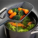 Aparatos de Cocina Respetuoso con el Medio Ambiente Nylon Gran colador Pala Espátula Cara de Agua Cuchara Filtro Antiadherente colador Grande