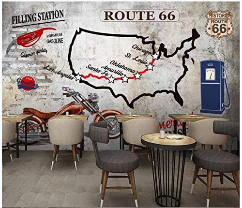 Carta da parati - Muro di cemento industriale Wind Route 66 - Fotomurali Murale alla moda Decorazione da Muro Poster Gigante Design Carta per pareti 200 x 150 cm