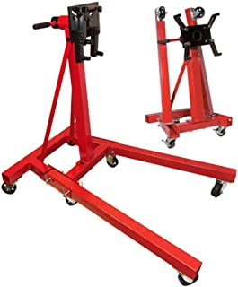 MH GLOBAL Heavy Duty 2,000 LB Foldable Engine Stand Mobile Engine Cart Motor Lift