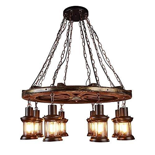 Light Up Life / Boutique Lighting Vintage industriële hanger lamp van hout eettafel Loft verstelbaar van glas ijzer eetkamer keuken persoonlijk design decoratieve verlichting