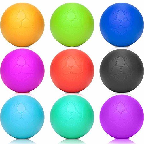 Lacrosse-Ball (6cm Ø) punktuellen Behandlung von Verspannung & Verhärtungen ähnlich dem Faszientraining - Massageball & Faszienball (Faszienrolle) für Physiotherapie, Rehasport & Fitness türkis