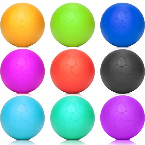 Lacrosse-Ball (6cm Ø) punktuellen Behandlung von Verspannung & Verhärtungen ähnlich dem Faszientraining - Massageball & Faszienball (Faszienrolle) für Physiotherapie, Rehasport & Fitness gelb