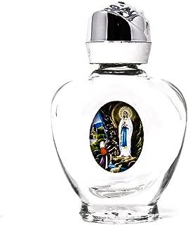 Lourdes Heart Bottle Filled with Blessed Lourdes Holy Water & Lourdes Prayer Card