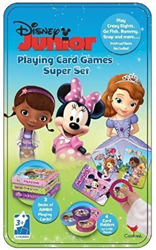 Disney Junior Playing Card Games Super Set Tin by Cardinal by Cardinal