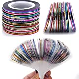 Nail Striping Tape Line 34 Colors Rolls Striping Tape Line Nail Art Decoration Stickers DIY Nail Tip Striping Tape for Nail Art