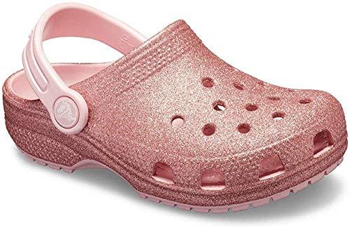 Crocs Classic Glitter Clog K, Zoccoli Unisex-Bambini, Rosa (Blossom 682), 24/25 EU