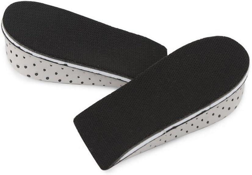 1 paire unisexe hauteur semelles croissantes en mousse /à m/émoire invisible talon augment/ée inserts de levage soul/ève chaussures souliers 4.3cm