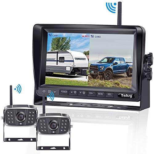 FHD 1080P Digital Wireless 2 Backup Camera for RVs/Trailers/Trucks/Motorhomes/5th Wheels 7