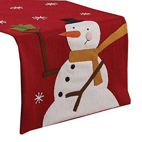Park Designs - Camino de mesa de fieltro para muñeco de nieve, 35,5 x 106,7 cm