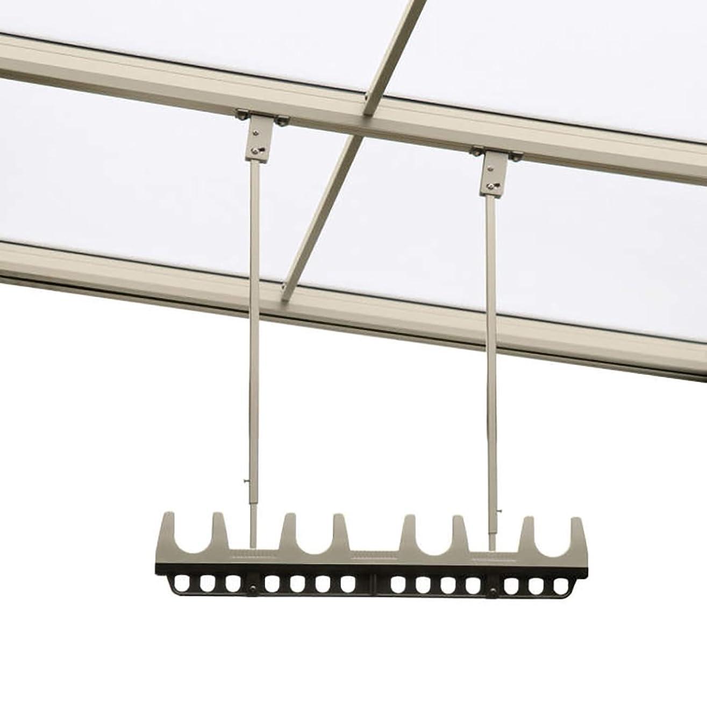 電気陽性宝手数料三協アルミ 竿掛け 吊り下げ型 調整式 標準 2本入り SATV-03K-2  ブラック