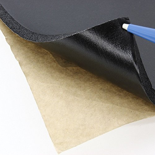 phil trade® 50 x 80cm Schaumstoff akustik Dämmmatte schwarz Aquarium Unterlage 9,5mm selbstklebend
