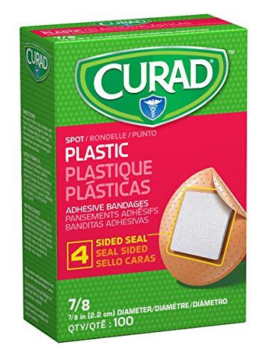 "Curad Plastic Spot Adhesive Bandages, Bandage Diameter is 7/8"" (Pack of 1200)"