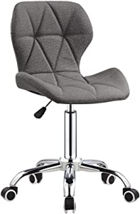 ZHJBD Furniture Stool Adjustable Home Office Desk Chairs Swivel Chairs Living Room Chairs Computer Chair Back Support Leather Gray