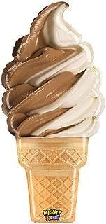 Realistic Chocolate Swirl Ice Cream Cone 35