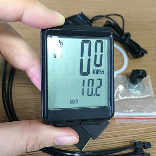 Computadora de la bici inalámbrica 15 funciones LCD digital odómetro bici ordenador nivel de entrada para ciclistas/hombres/mujeres/adolescentes