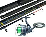 Best Surf Casting Reels - Hunter Pro Telescopic Sea Fishing Kit Travel Rod Review