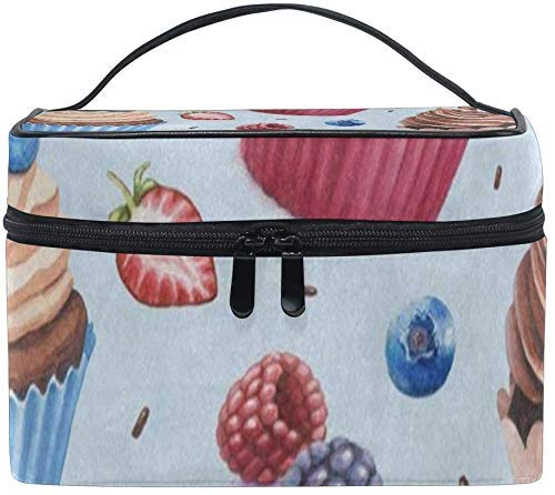 Kosmetiktaschen,Make-up Taschen Etuis Cosmetic Bag Colored Cupcake Strawberry Womens Makeup...