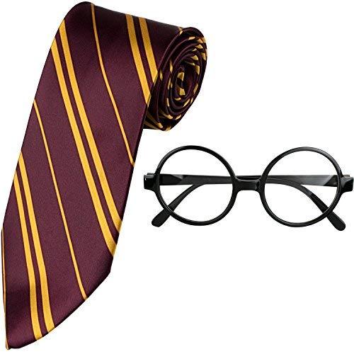 Kangaroo Wizard Tie & Glasses Costume Accessory Set Black
