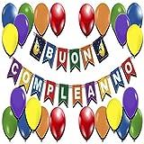 Decorazioni Compleanno Scritta 🇮🇹 Buon Compleanno 🇮🇹 Festoni Compleanno Addobbi Feste Happy Birthday Cartoncini Colorati Palloncini Party Kit Festone Striscione Compleanni Bambini Bambina Adulti