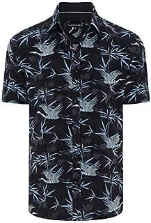 Tarocash Men's Samuel Print Shirt Regular Fit Long Sleeve Sizes XS-5XL for Going Out Smart Occasionwear