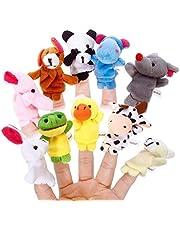 Guillala Zestaw paleczek na palec – zestaw dla członków rodziny / zestaw zwierząt – pluszowy słodki styl palec laleczka zabawki edukacyjne dla dzieci (1 szt. losowy wzór zwierzęcy)