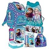 Frozen die Eiskönigin 2 II Anna ELSA Olaf 8 Teile Set Schulranzen Schulrucksack Rucksack RANZEN TORNISTER Tasche mit Sticker von Kids4shop Federmappe