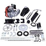 49cc Bike Bicycle Engine Kit, Motorized Bike 4 Stroke, Gas Petrol Motorized Bike Engine Scooter Parts for 26' Bikes (Shipped from US) (Silver, 49cc)